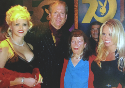 Mark at a Playboy party with, (left to right) Anna Nicole Smith, Bettie Page, and Pamela Anderson