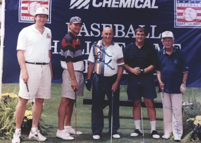 Mark playing at a National Baseball Hall of Fame golf event