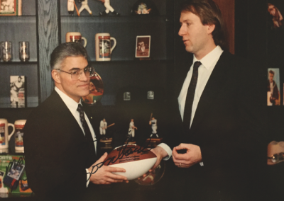 Mark with Vince Lombardi